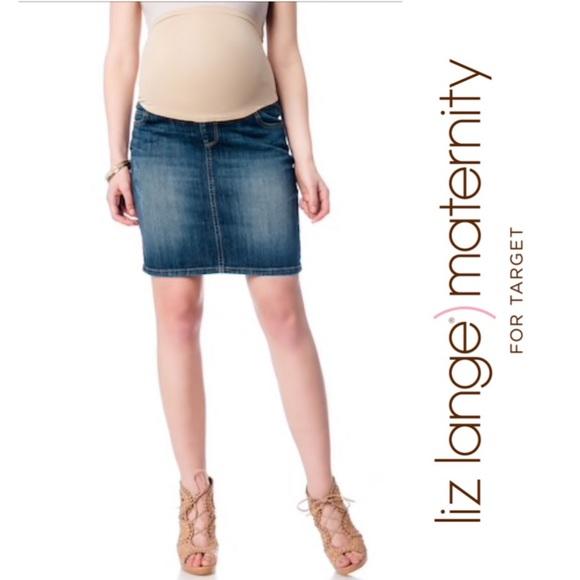 Liz Lange For Target Skirts Lizlange Maternity Jean Skirt Poshmark